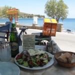 LA salade grecque de chez Lampros