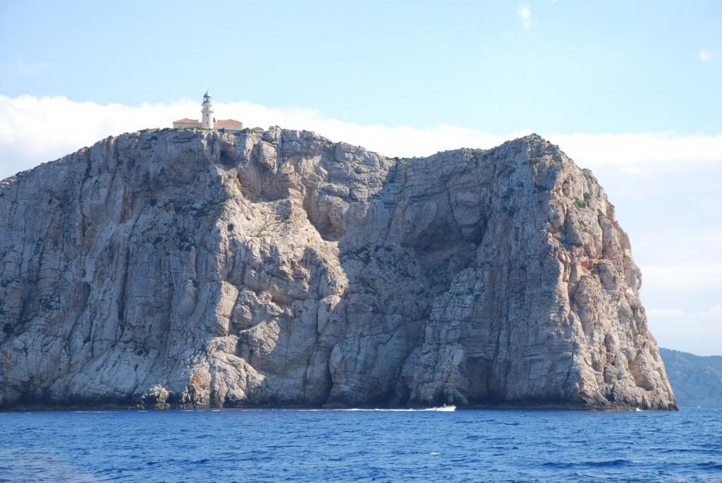 Isla de Dragonera, la pointe Ouest de l'île où nous arrivons sur Majorque.