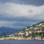 La côte, relativement construite à Majorque