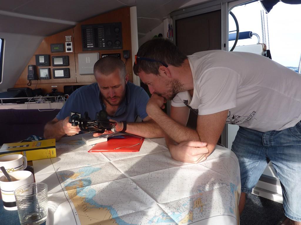navigation carte sextant